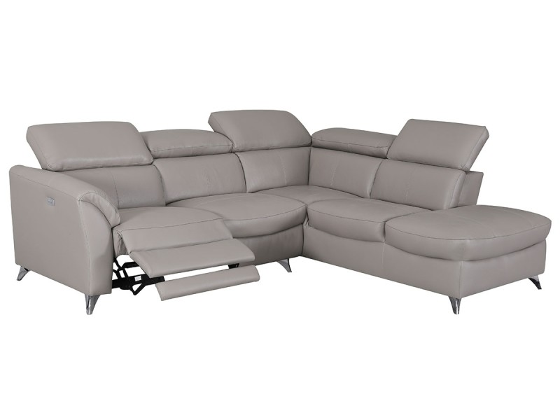 Canapé d'angle droit relax en cuir aston - ta
