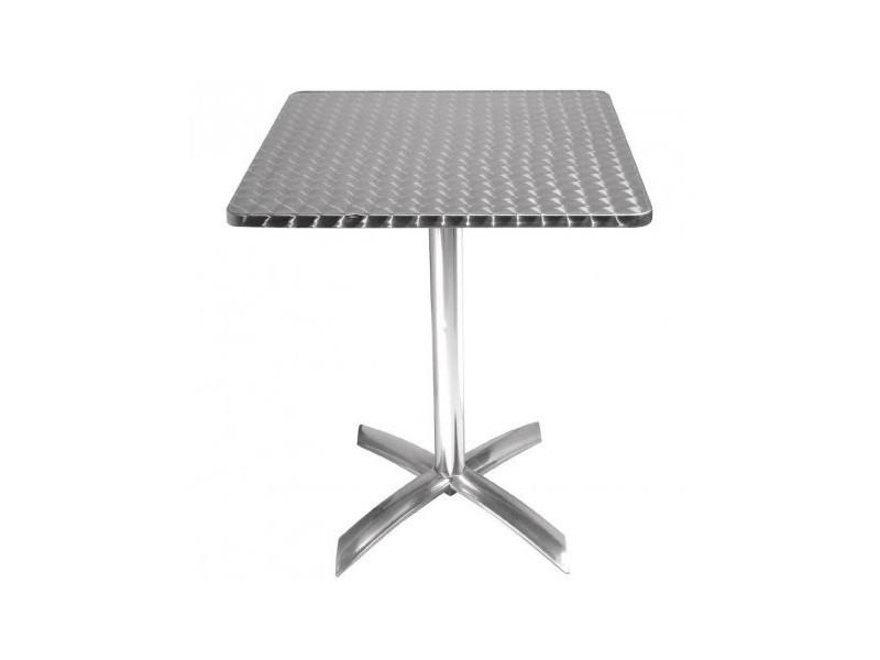 Table carrée à plateau basculant inox bolero 600 mm