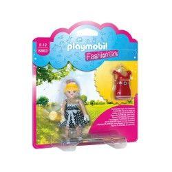 6883 playmobil fashion girl - tenue rétro