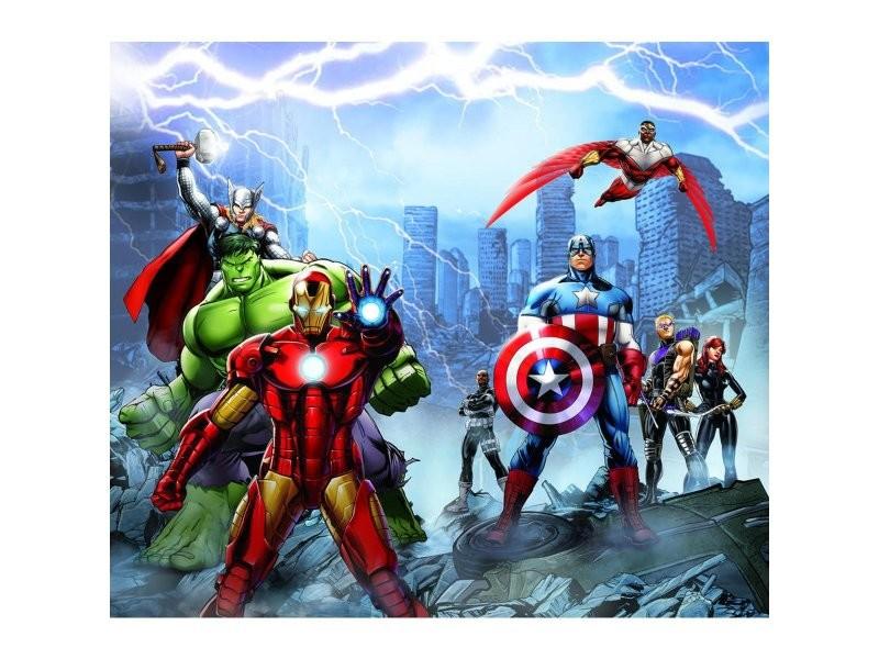 Rideaux Voilage Equipe Avengers Marvel 180x160 Cm Vente De Rideau
