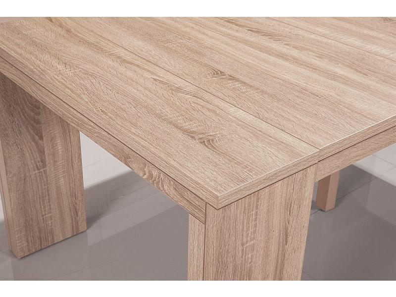 Table console nassau xl chêne clair vente de menzzo conforama