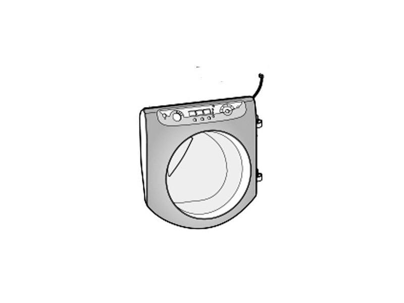 Porte hublot silver complet pour lave linge ariston - c00276065
