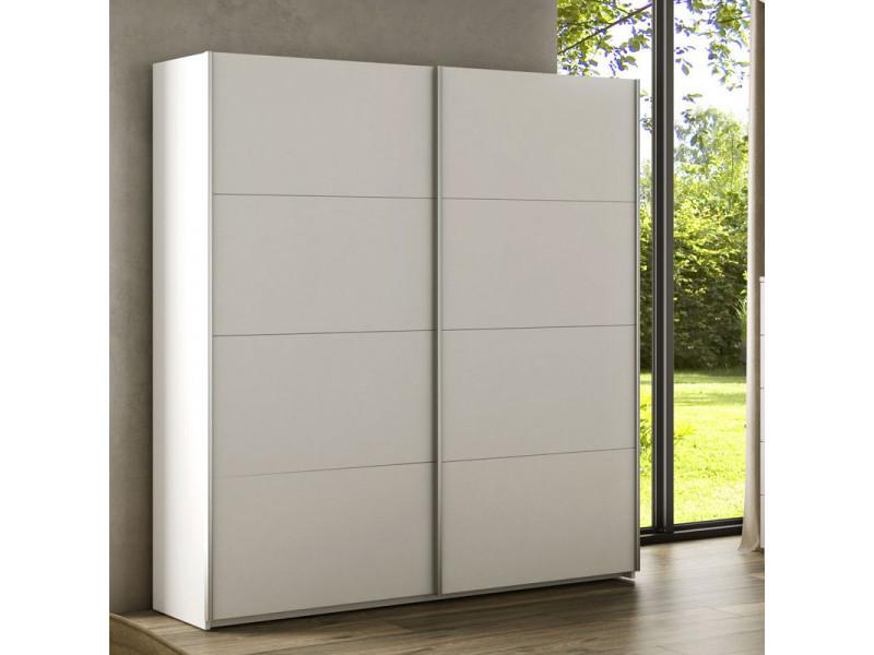 Armoire 2 portes coulissantes blanc - copist - l 150 x l 60 x h 200 cm