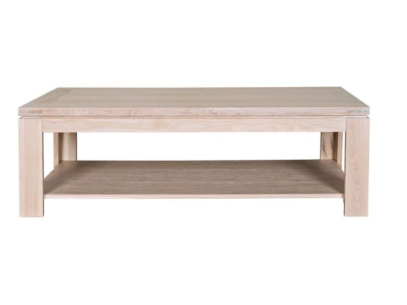 table basse rectangulaire boston bois ch ne blanchi. Black Bedroom Furniture Sets. Home Design Ideas
