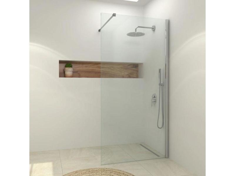 Paroi de douche fixe single en verre 8 mm 100 x 200 cm vente de colonne et paroi de douche - Paroi douche fixe 100 cm ...