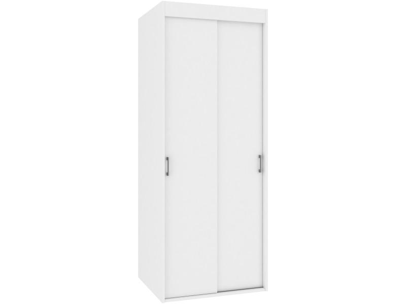 Cecila - armoire portes coulissantes style moderne - 180x70x60 cm - meuble de rangement espace penderie - dressing - blanc