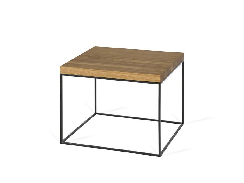 Table basse industrielle métal et bois flore