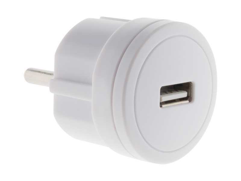 Chargeur usb 2,1a compact blanc 211024