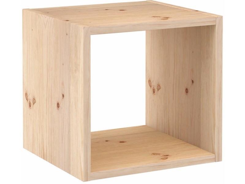 Cube de rangement en pin massif dinamic - Vente de ASTIGARRAGA - Conforama