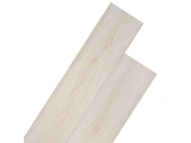 Splendide matériaux de construction categorie singapour planche de plancher pvc 5,26 m² couleur de chêne blanc