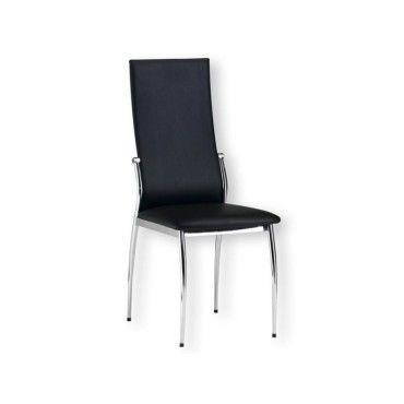 Chaise de salle manger doris noir vente de chaise for Chaise sejour noir