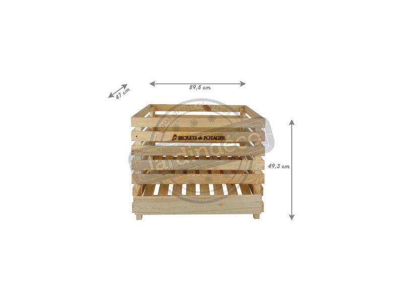 caisse pommes de terre en bois vente de esschert. Black Bedroom Furniture Sets. Home Design Ideas