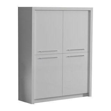 Meuble Bar Moderne Coloris Blanc Laqué - Vente De Buffet, Bahut