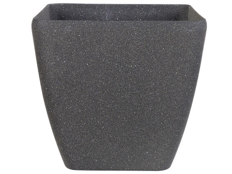 Pot de fleurs gris foncé 49 x 49 x 49 cm zeli 140456