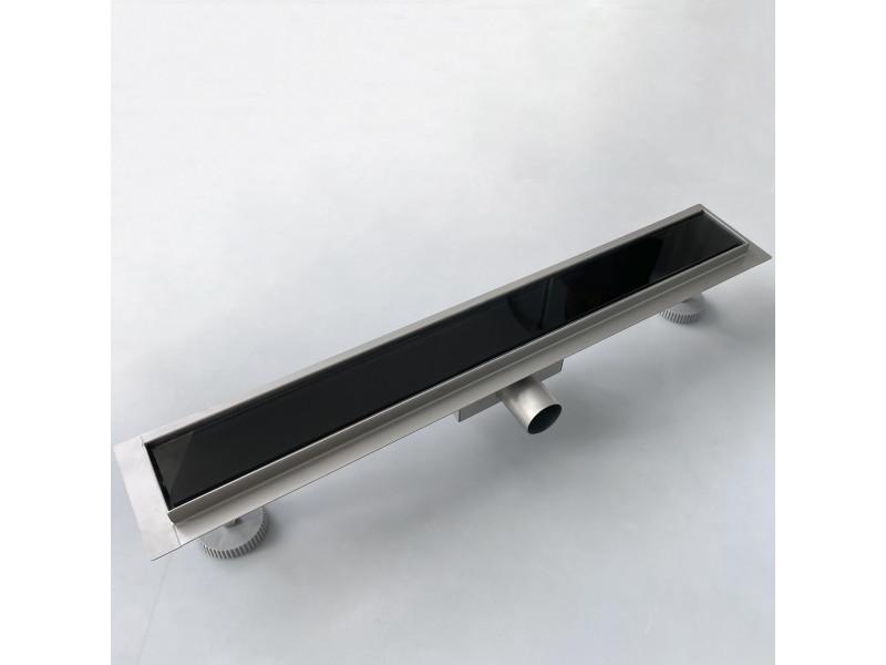 Aica caniveau de douche italienne 60 cm en acier inoxydable voir noir