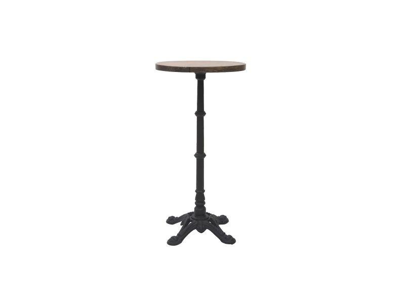 de Vente haute et ronde bistrot métal Table conty bois 1cKTl3JF