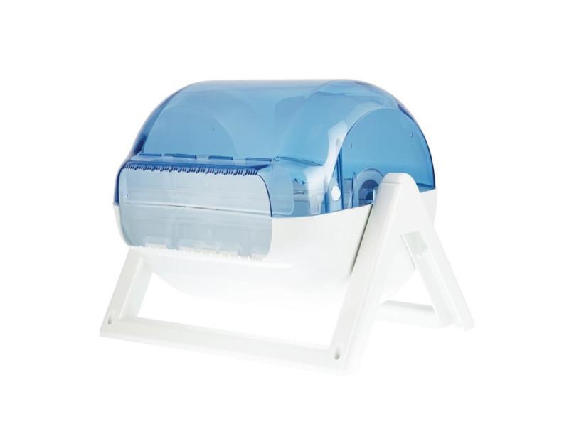 Distributeur d'essuie-mains en plastique bleu jantex -