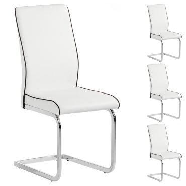 lot de 4 chaises jimena blanc vente de idimex conforama. Black Bedroom Furniture Sets. Home Design Ideas