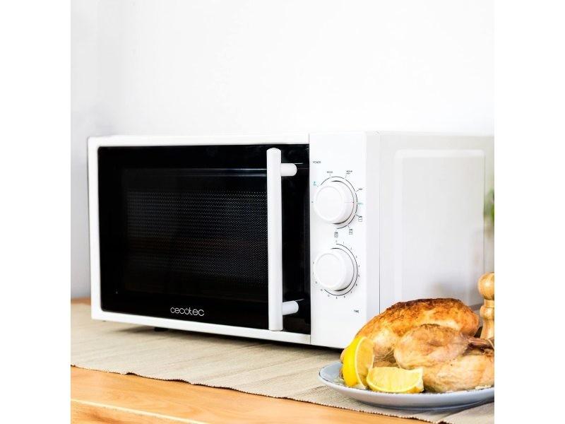 Micro-ondes de 20l avec grill et minuterie 1200w noir blanc