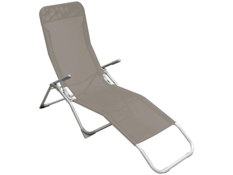 Bain de soleil chaise longue transat terrasse jardin sieste ...