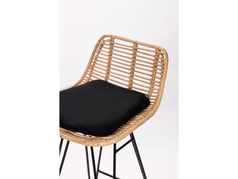 chaise de bar design en rotin 67cm capurgana couleur naturel dra005 conforama. Black Bedroom Furniture Sets. Home Design Ideas