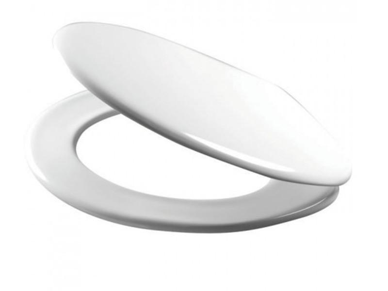 Abattant wc blanc charnieres inox avec frein de chute -pegane-