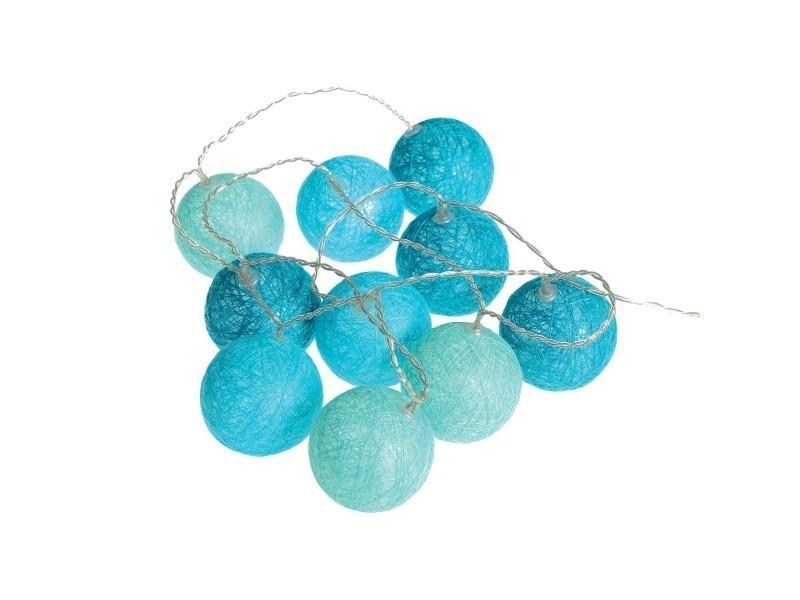 guirlande lumineuse bleu 10 boules led piles conforama. Black Bedroom Furniture Sets. Home Design Ideas