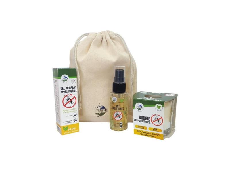 Kit anti-moustiques n°1 - bougie, spray 50 ml & gel apaisant TER3760267061004