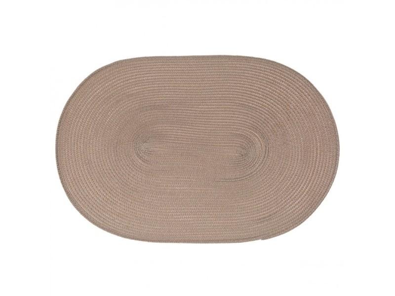 Set de table ovale taupe