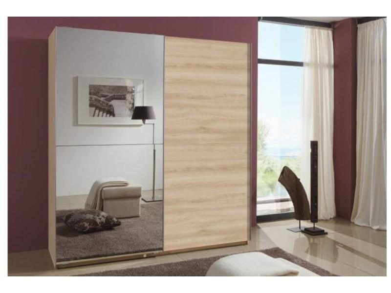 affordable excellent interesting amazing dressing portes clapton cm coloris chne avec miroir. Black Bedroom Furniture Sets. Home Design Ideas
