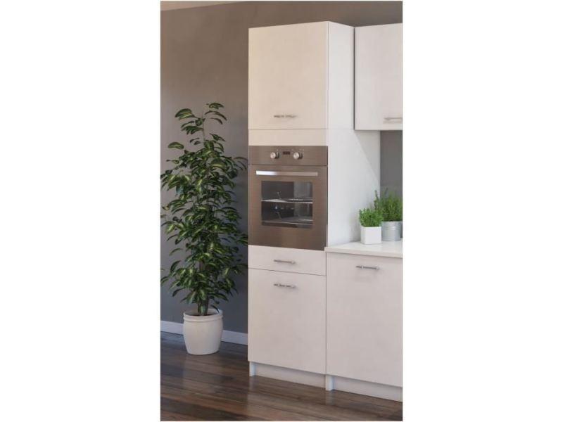 Elements separes colonne extra colonne de cuisine l 60 cm - blanc mat