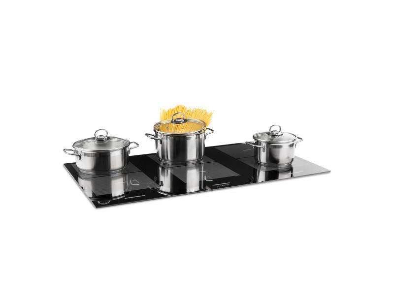 Klarstein virtuosa flex 90 table de cuisson à induction 6 zones en vitrocéramique - 10800w - noir