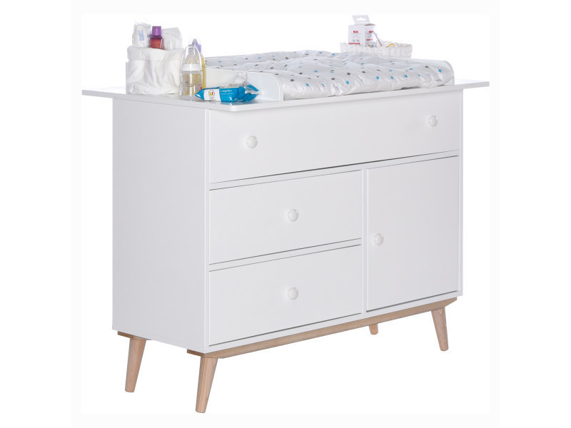 Chambre b b volutive avec commode langer happy lb60 a - Chambre evolutive bebe ...