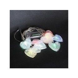 Guirlande solaire coeur 10 leds multicolores