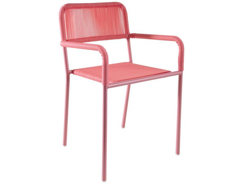Chaise enfant en polyrésine rose