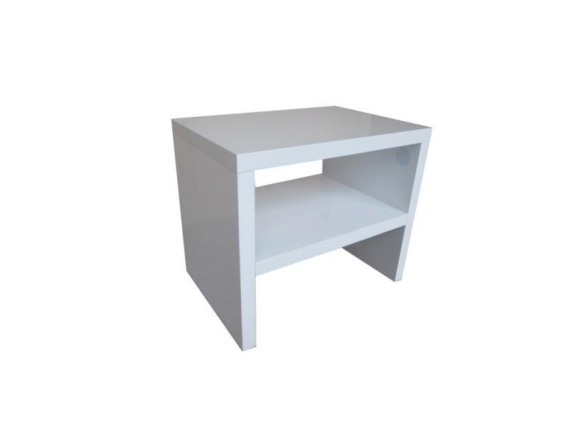 Table de chevet perth design,coloris blanc.