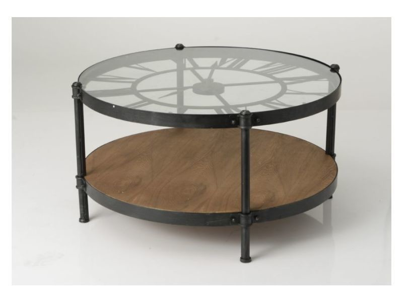 table basse horloge vente de hellin conforama. Black Bedroom Furniture Sets. Home Design Ideas