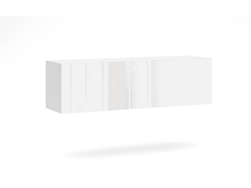 Livol l meuble tv 140 cm blanc