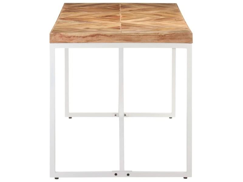 Vidaxl table à dîner 140x70x76 cm bois massif d'acacia et de manguier 323547