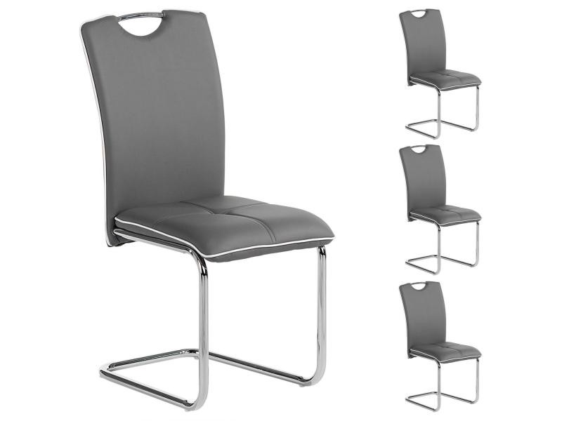 chaise salle gris conforama