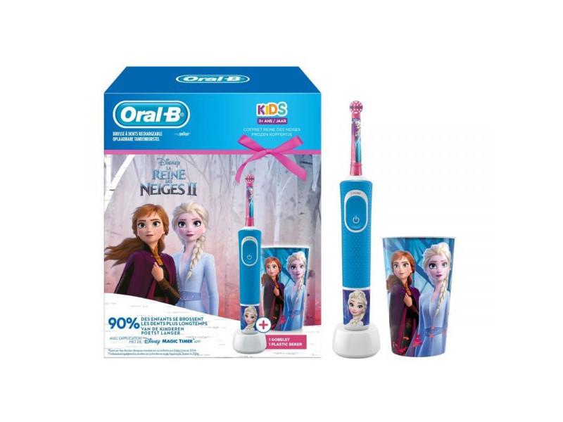 Oral-b brosse à dents électrique pack reine des neiges