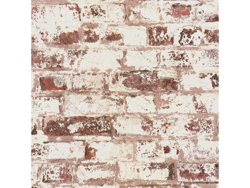 Dutch wallcoverings papier peint brique rouge et blanc 430644