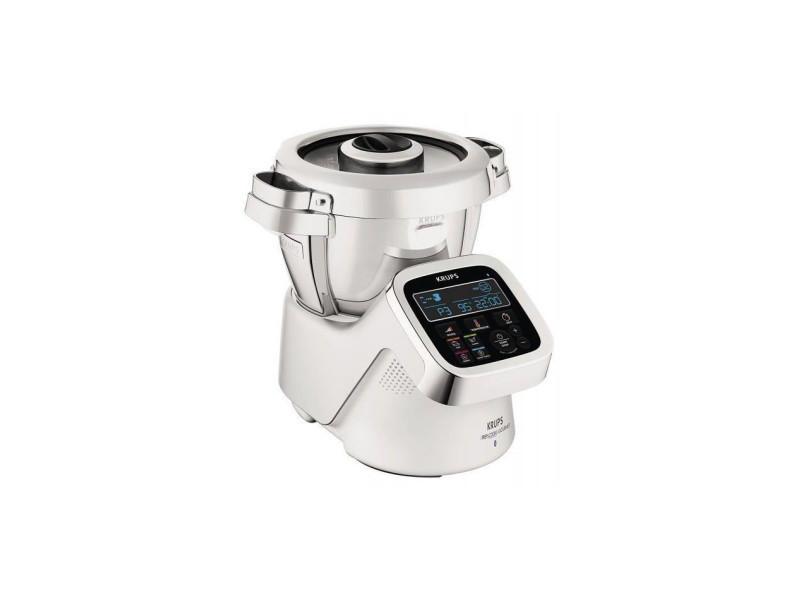 Prep&cook gourmet - robot multifonctions - 1500w - 4,5l - 12 vitesses+pulse/turbo - 6 programmes - blanc/acier inoxydable KRU0010942223429