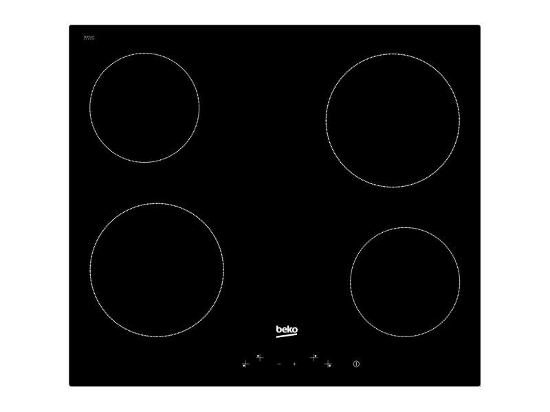 Beko hic 64400 e plaque noir intégré (placement) 60 cm céramique 4 zone(s)