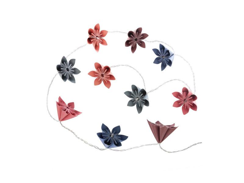 Atmosphera - guirlande 10 led fleurs multicolores à piles