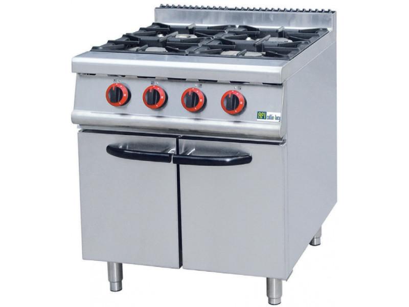 Fourneau gaz sur meuble série 700 - 4 à 6 brûleurs - afi collin lucy - 700x700 700