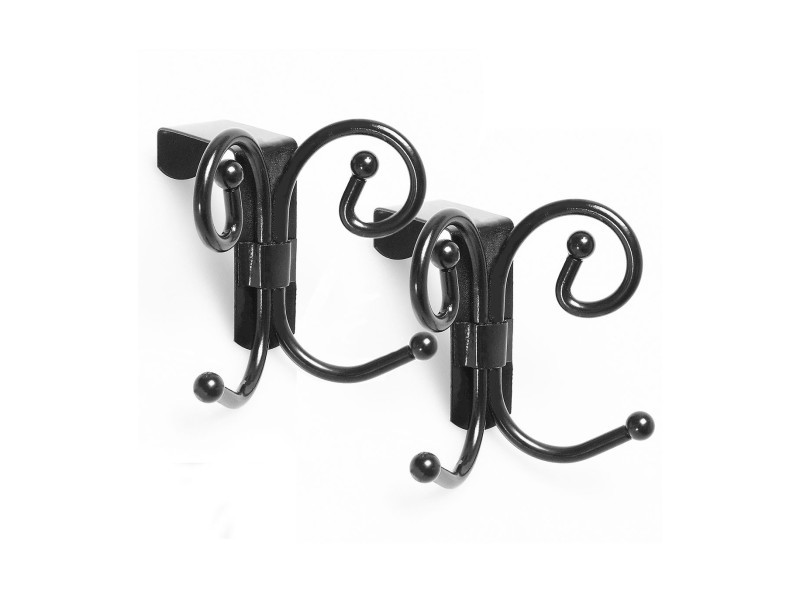 porte manteau pour porte imitation fer forg lot de 2 vente de calicosy conforama. Black Bedroom Furniture Sets. Home Design Ideas