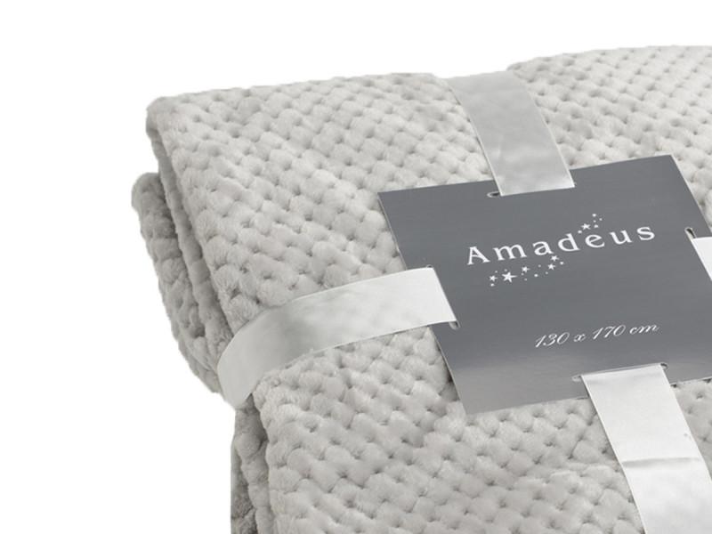 Plaid taupe Amadeus 170x240 cm collection Damier