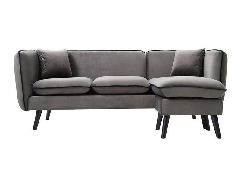 canap d 39 angle modulable scandinave en tissu gris conforama. Black Bedroom Furniture Sets. Home Design Ideas