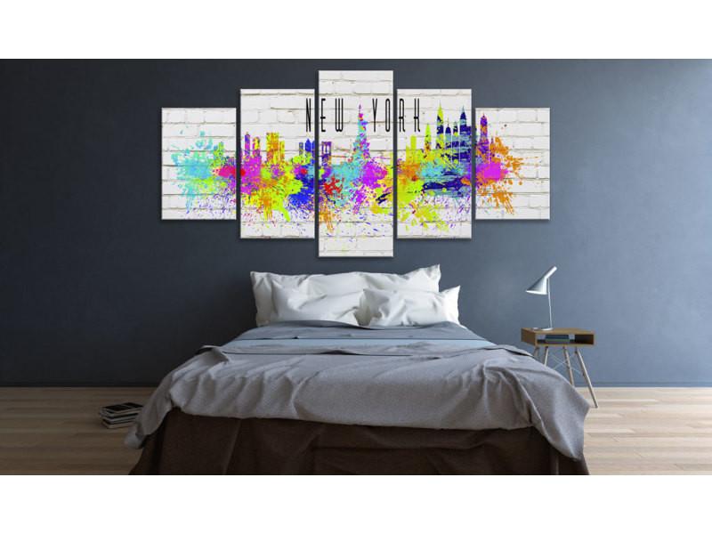 100x50 tableau new york villes contemporain colorful new york
